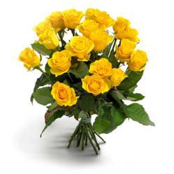 Gele rozen verrassing