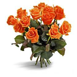 Oranje rozenboeket