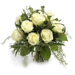 Wit rozenboeket